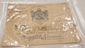 ORIGINAL E.J.CHURCHILL LONDON GUN CASE LABEL