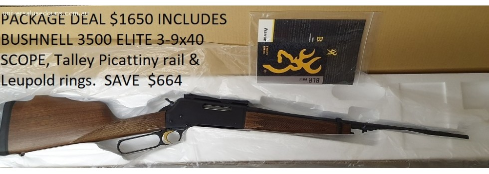 BROWNING BLR 308WIN PACKAGE DE... PACKAGE DEAL for $1650 includes  