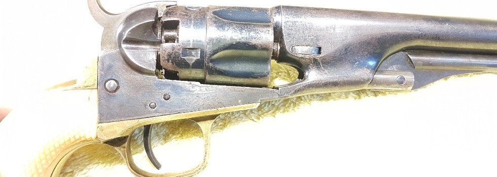 Crisp sharp blue Colt 1862 Pol... Here is a crisp and clean Colt antique .36 cal cap and ball 5 shot revolver with...Show Details