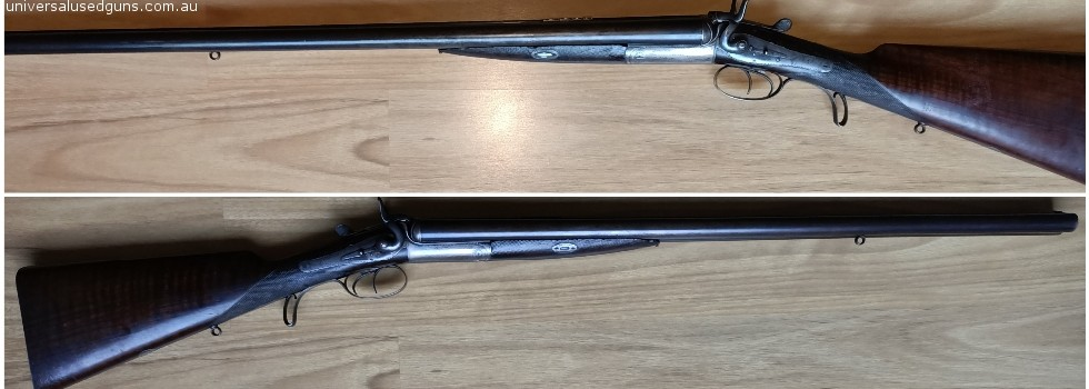 Double rifle 577 K C BISWAS & CO Wedge bolt hammer DOUBLE RIFLE