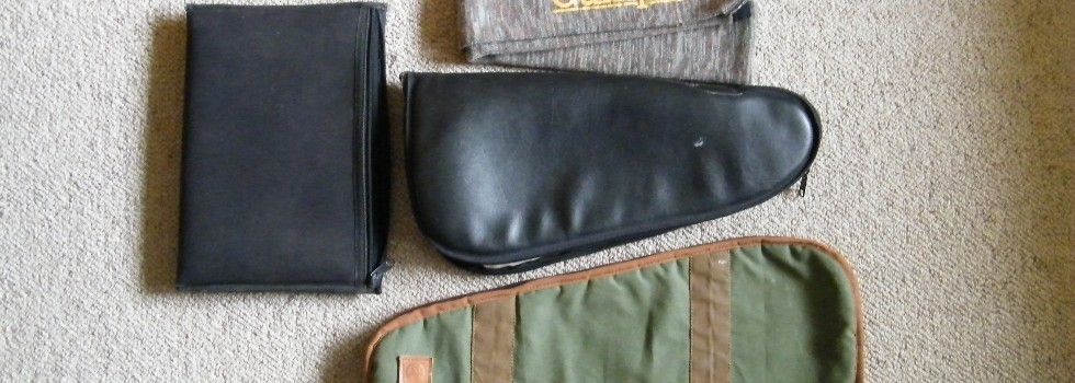 Pistol Pouches 4 Asst Pistol Pouches/Gun Sock price includes post estate items job lot that's $...Show Details