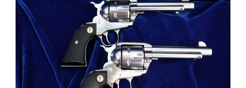 Ruger Vaquero SASS 45LC Stainl... A very nice pair of consecutive serial numbered New Vaquero SASS Revolvers. Thes...Show Details