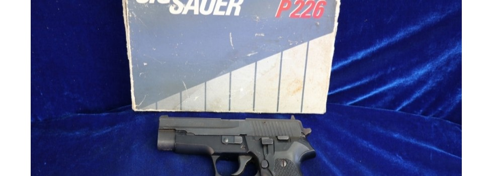 SIG P226 9mm Semi Auto Pistol SIG P226 9mm Semi Auto Pistol with original box in good overall condition...Show Details