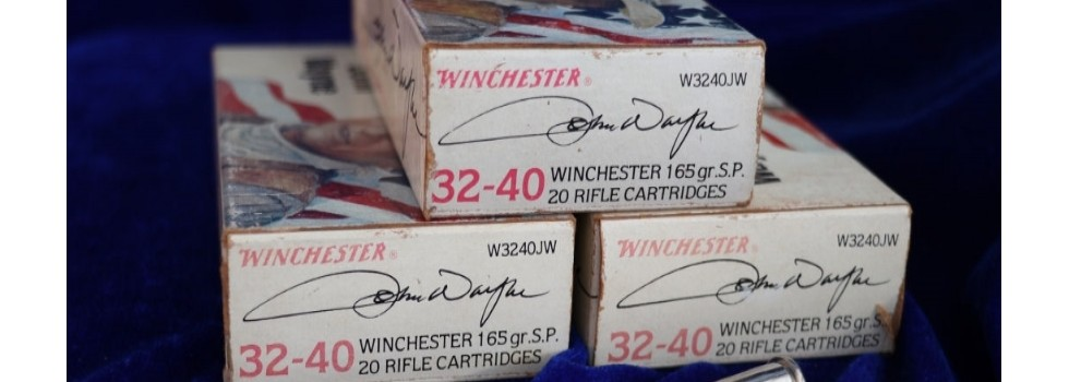 "The 'Duke' John Wayne Commemor... 3 x original boxes of Winchester 32-40 ""Duke"" John Wayne commemorative cartridge...Show Details"