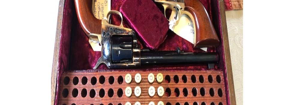 Uberti 1873 SAA Cattleman Revo... Matching pair of Uberti 1873 SAA Cattleman 44-40 revolvers in as new condition. ...Show Details